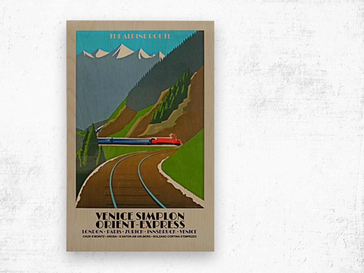 Simplon Orient Express The Alpine Route Wood print