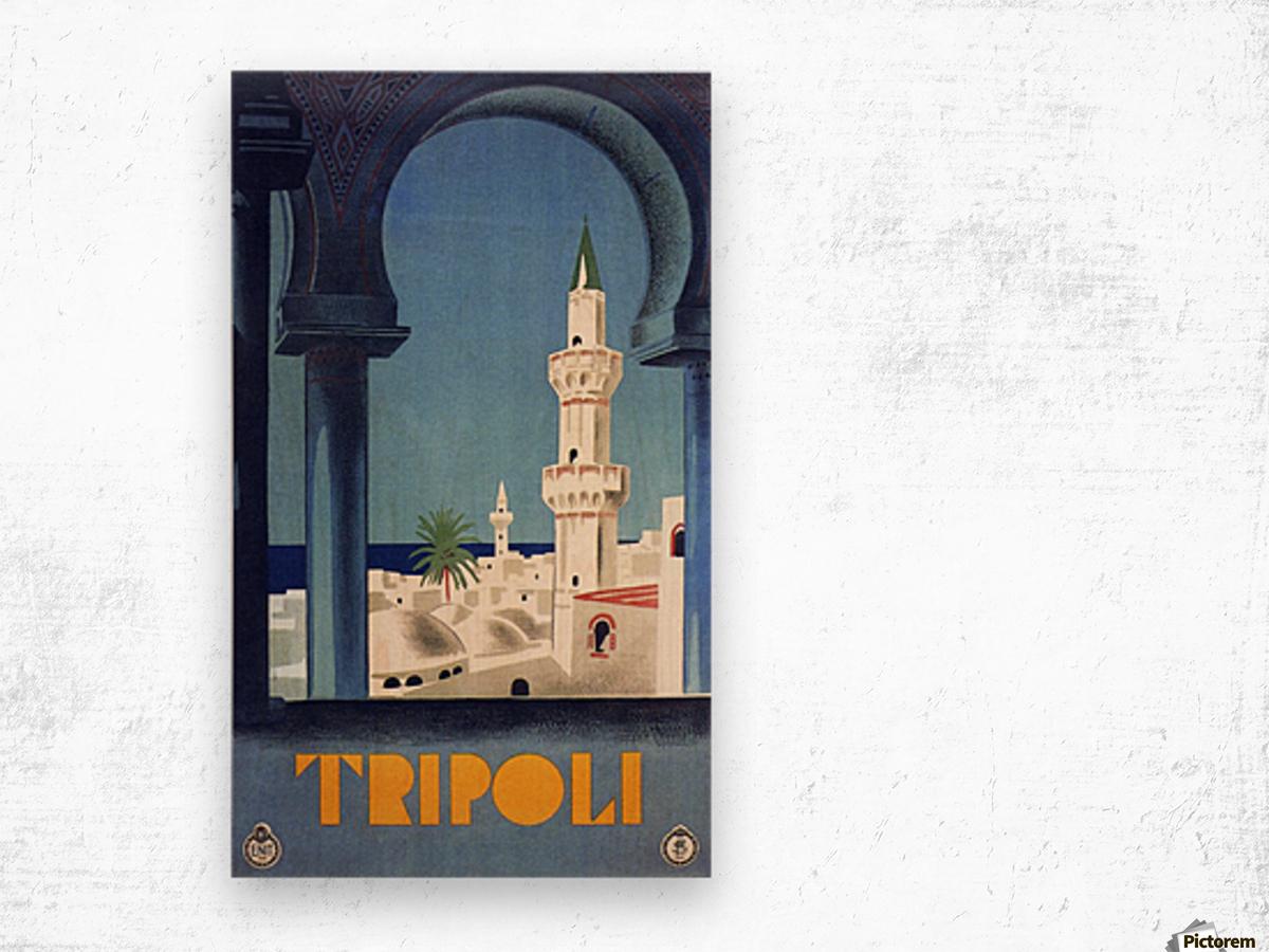 Tripoli travel poster Wood print