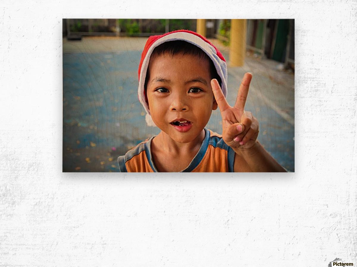 Bangkok boy Wood print