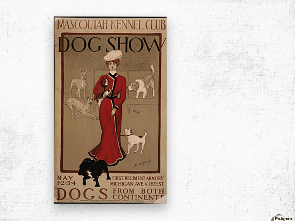 Dog Show Wood print