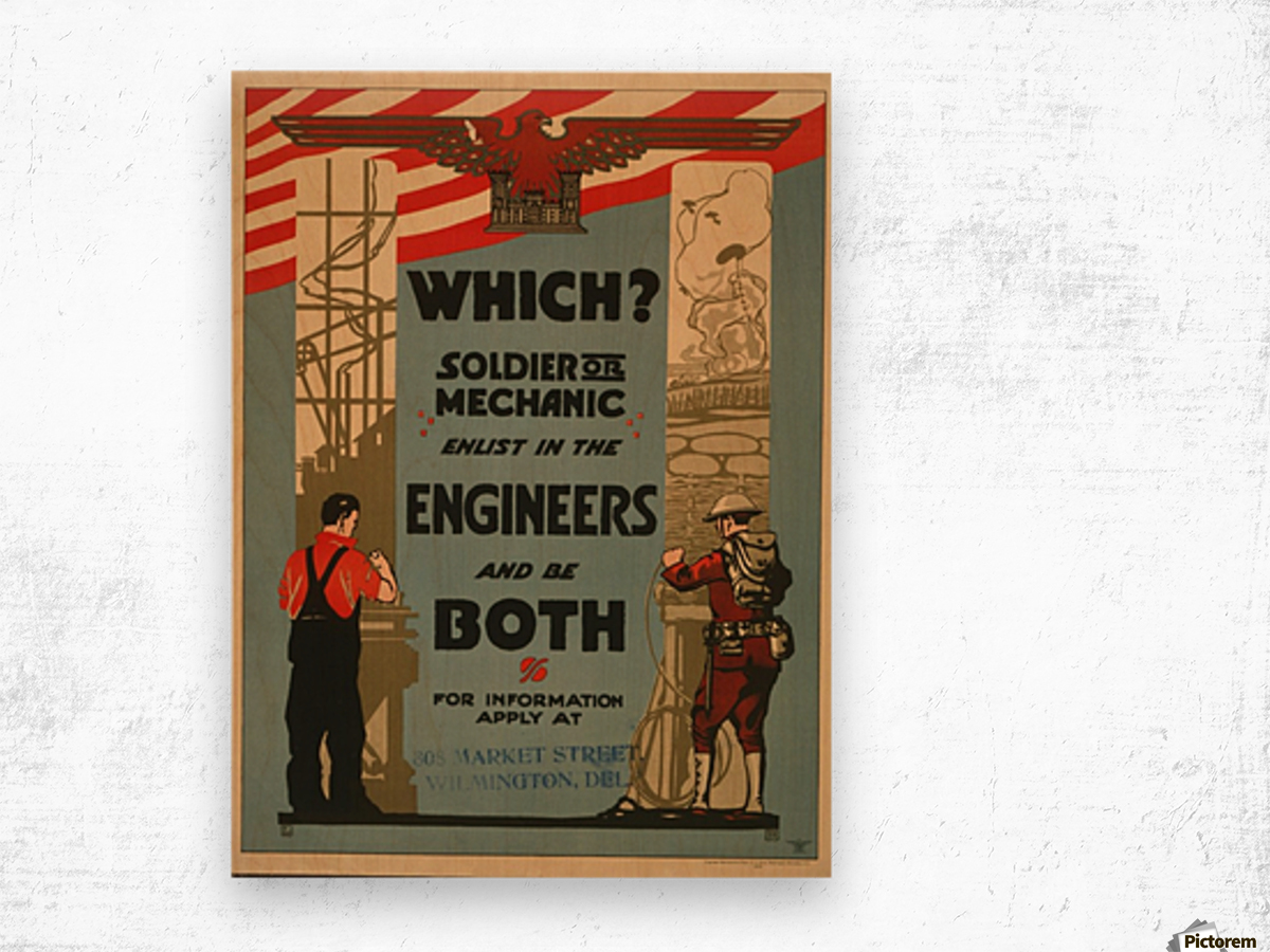 Engineers Wood print
