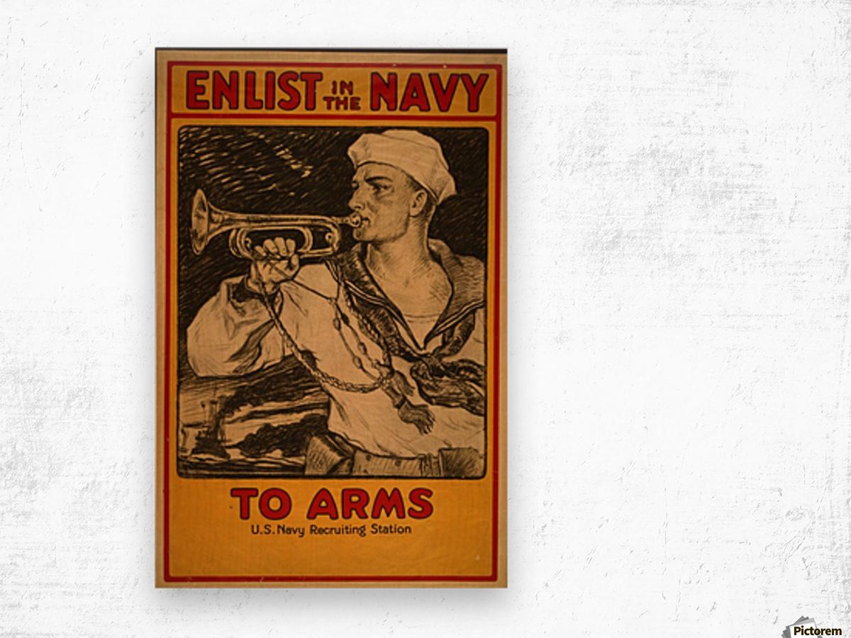 Enlist in the Navy Wood print