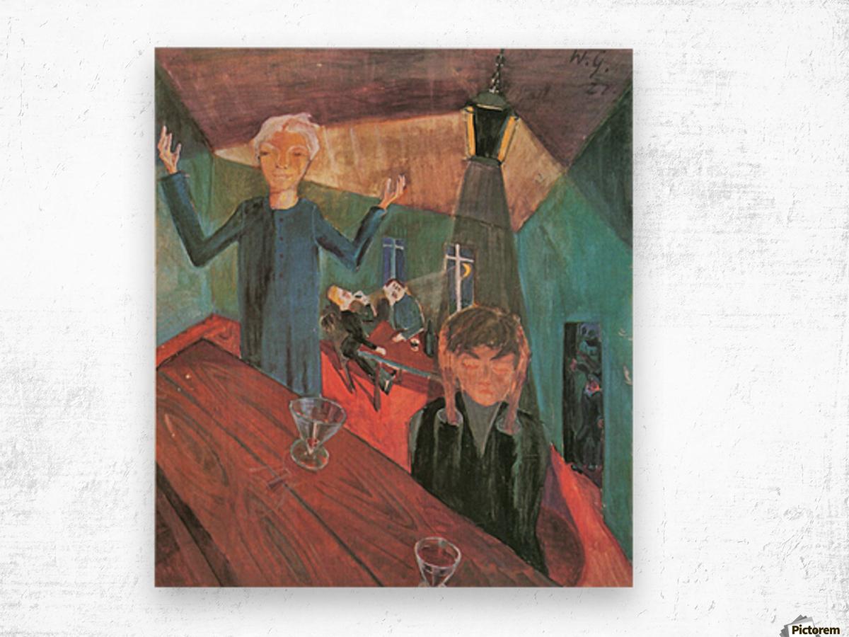 Trinker by Walter Gramatte Wood print