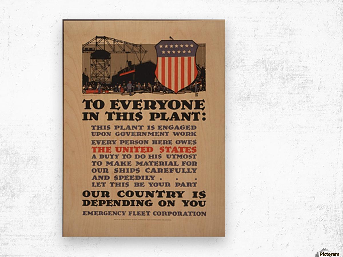Government work Wood print