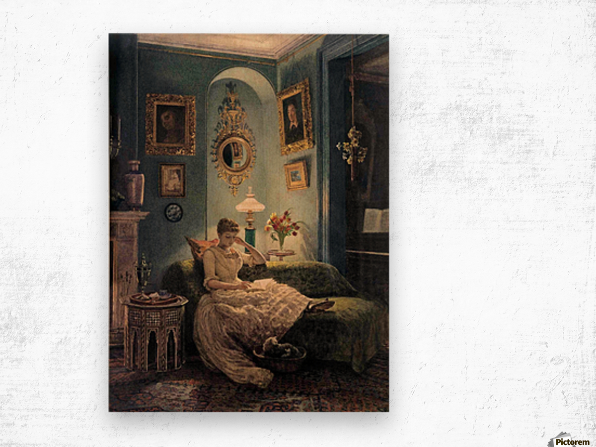 Evening at home Wood print