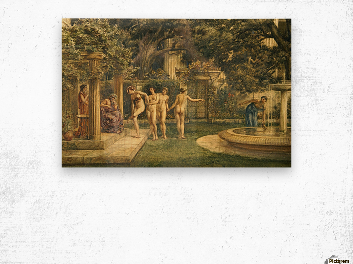 A visit to Aesculapius Wood print