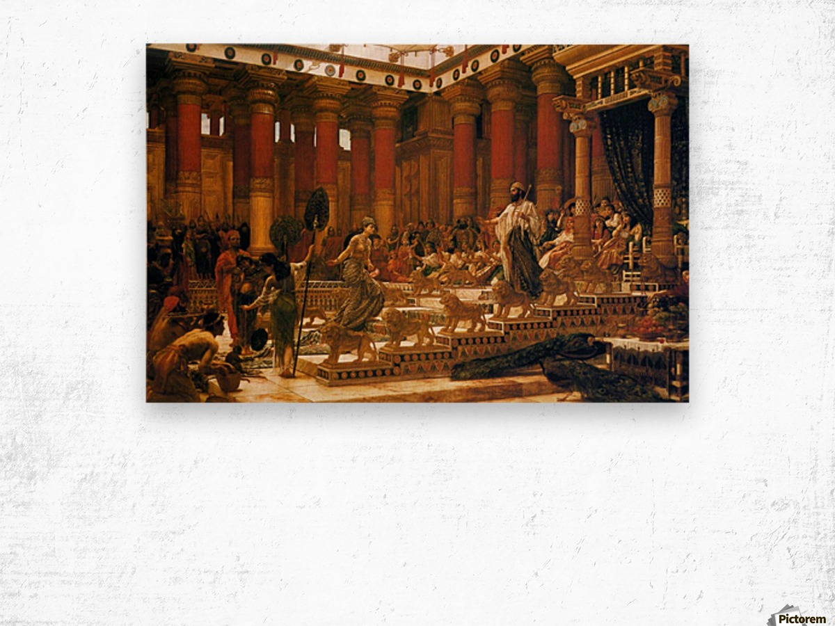 The Visit of the Queen of Sheba to King Solomon Wood print