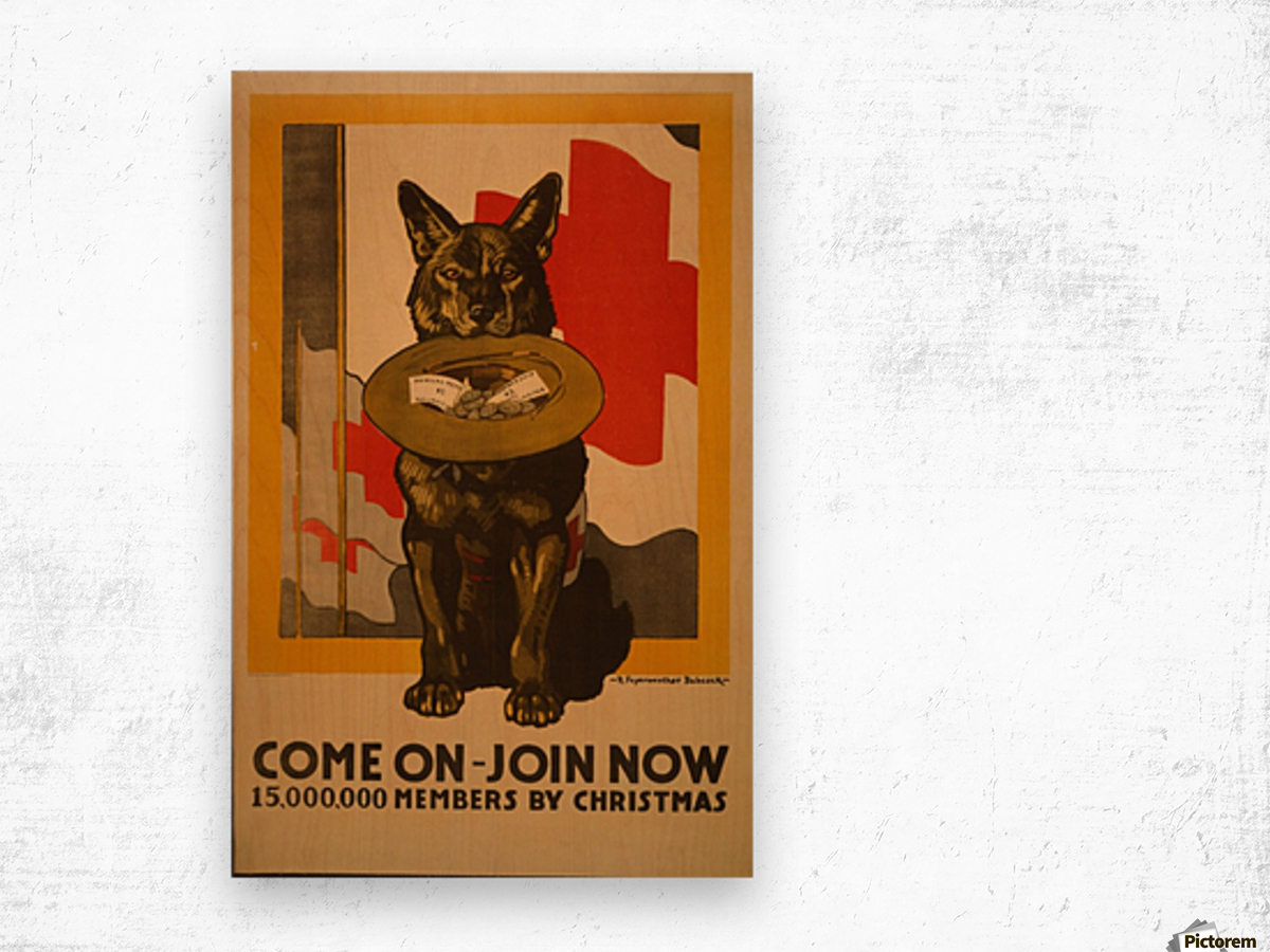 Join now Wood print