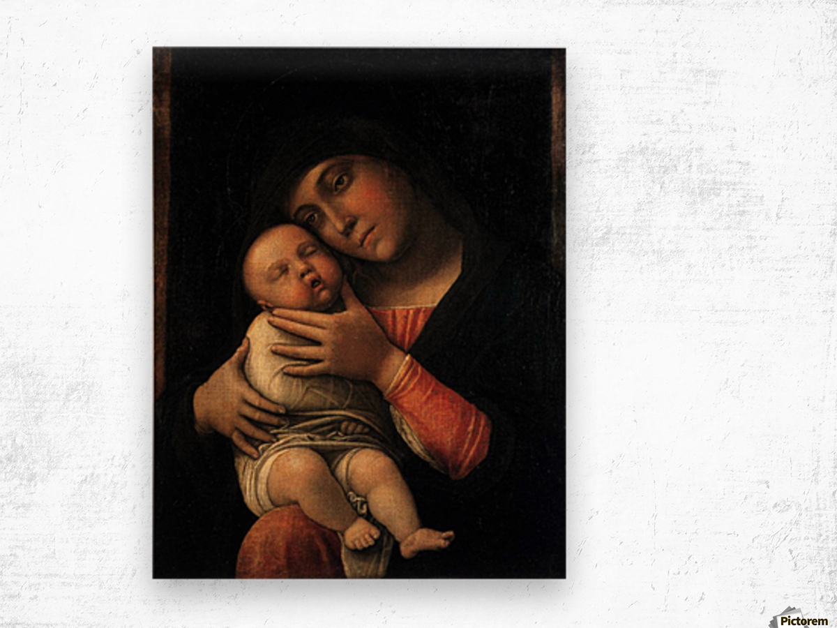 Portrait of Virgin and Child Wood print