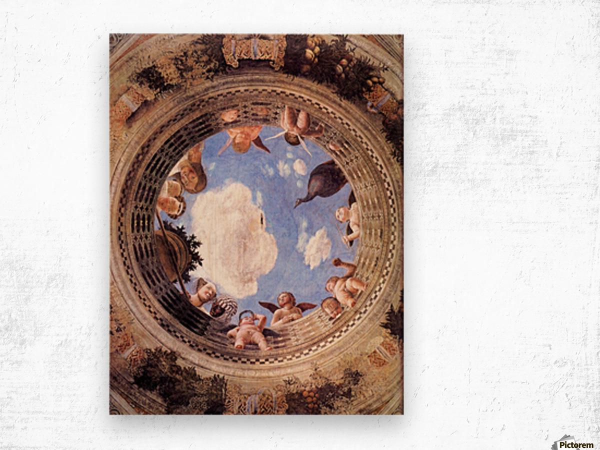 Mantegna Ceiling Oculus in the Camera degli Sposi, Mantova Wood print