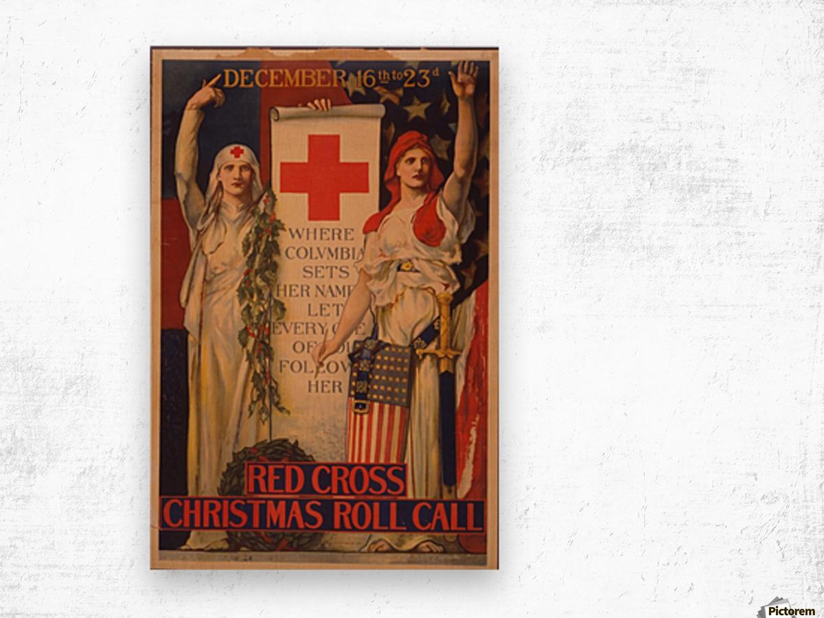 Red Cross Wood print