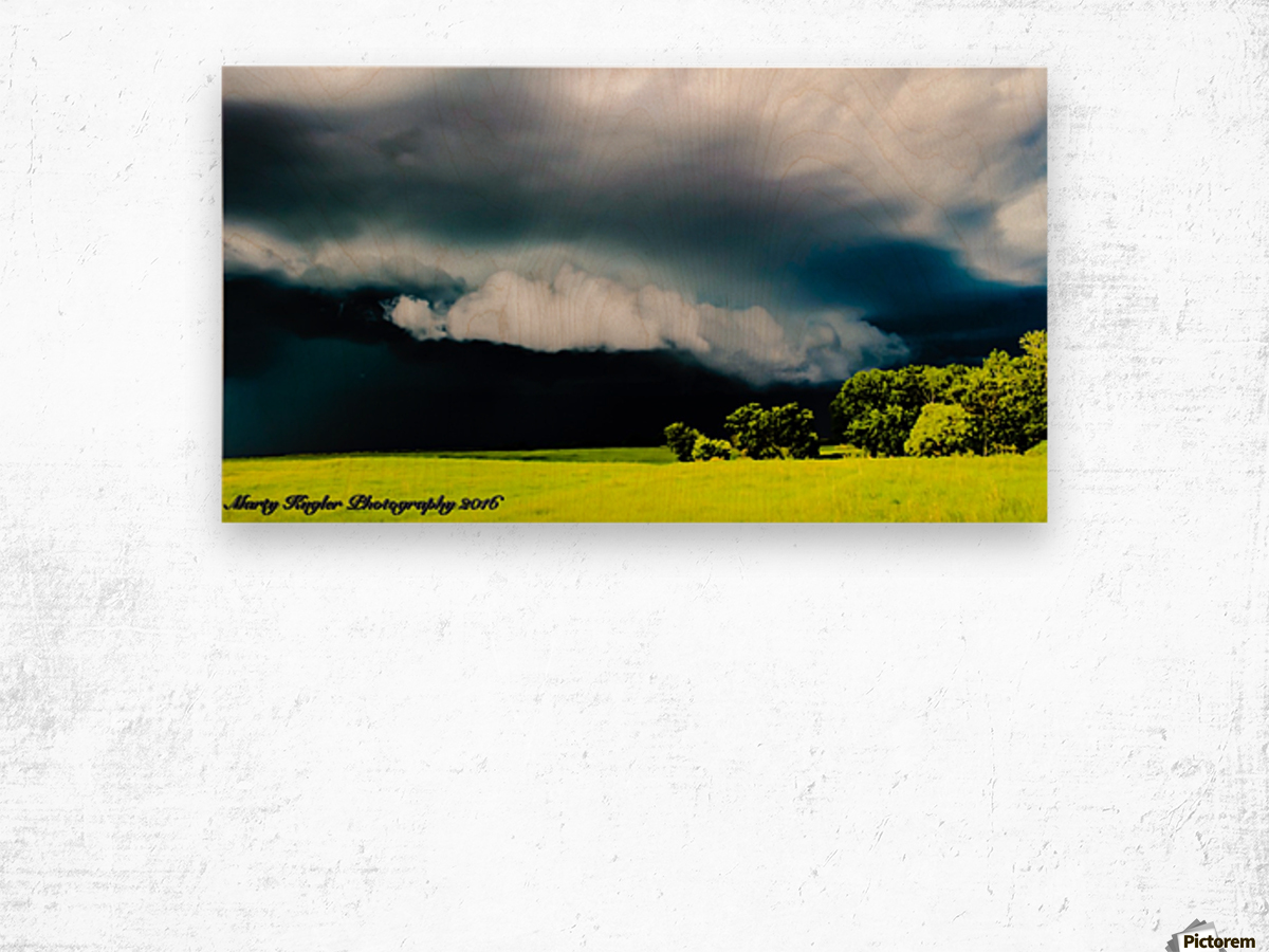 KANSAS STORM ROLLING IN! Wood print