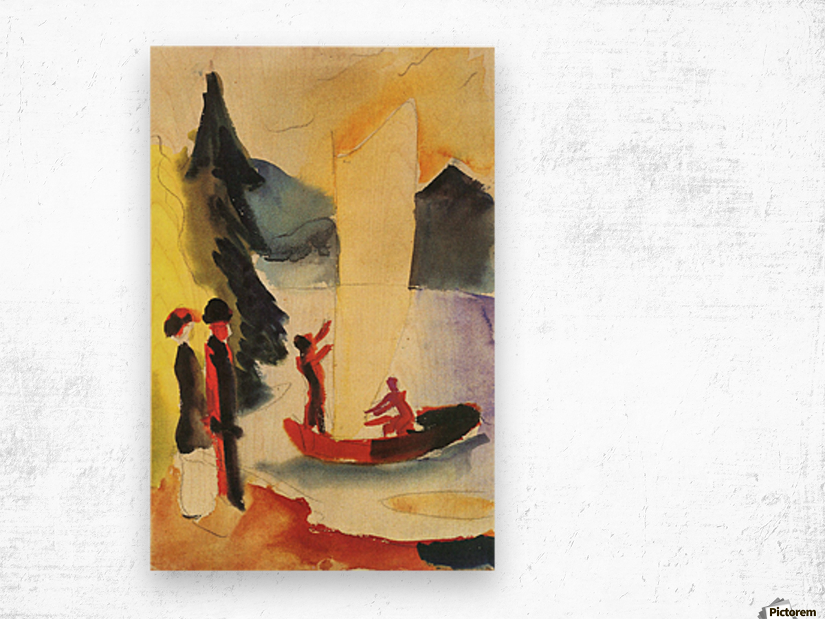 Yellow Sail by August Macke Wood print