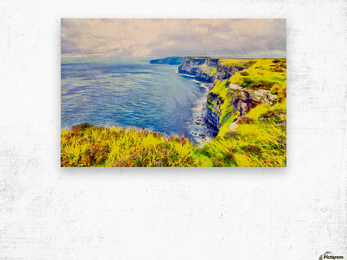 CLIFFS OF MOHER 1 AZO Wood print