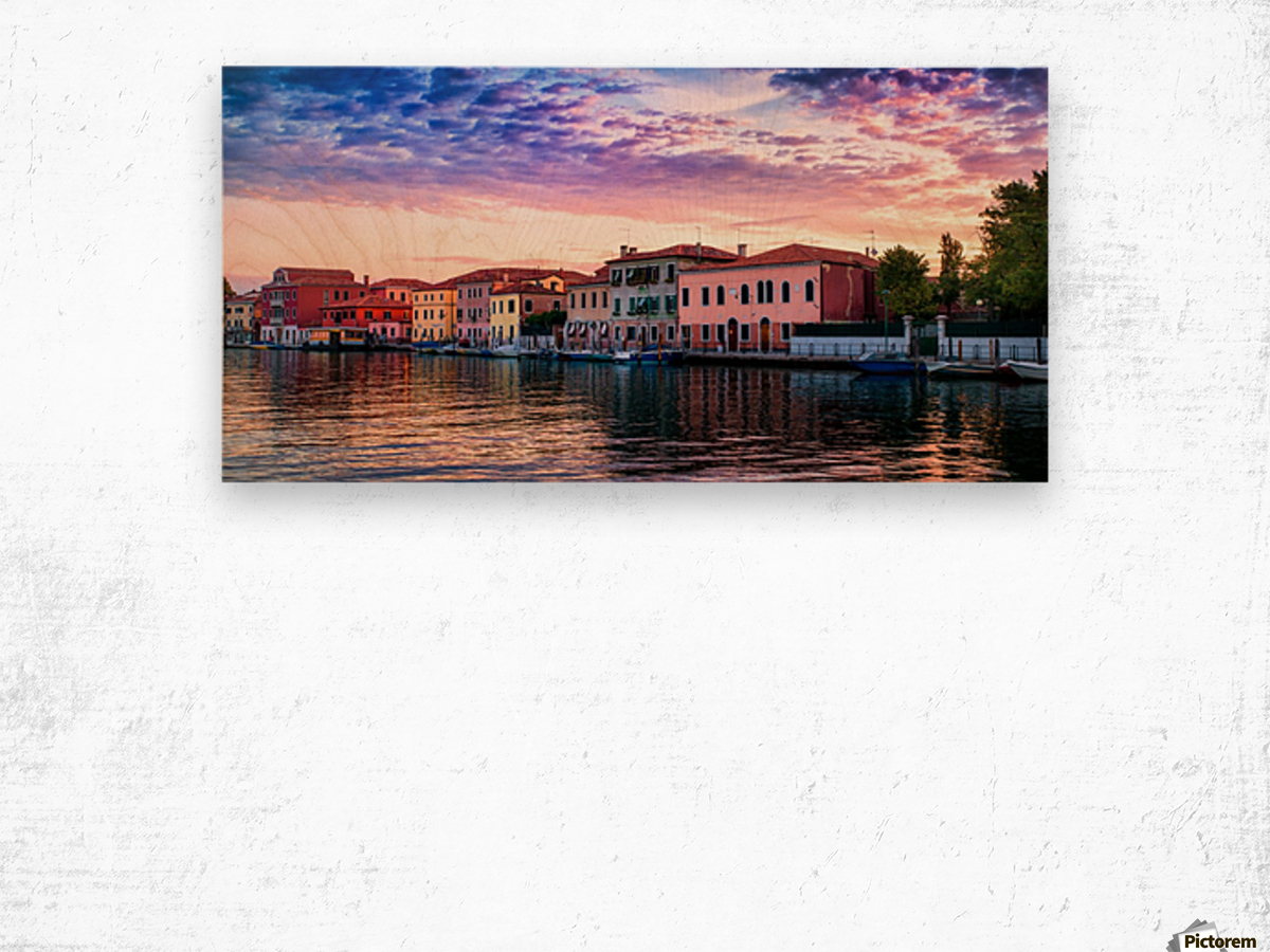 Murano Morning Wood print
