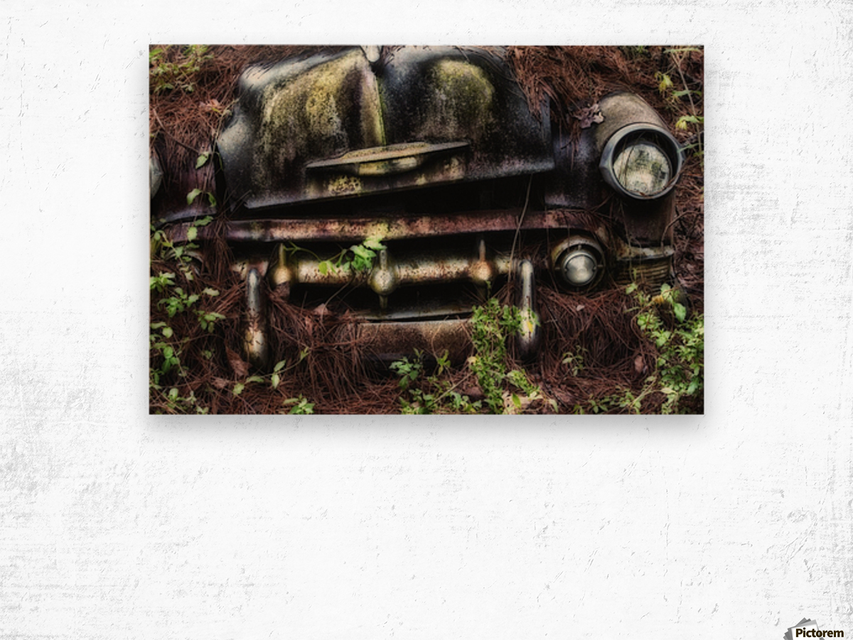 Old Car City  Wood print
