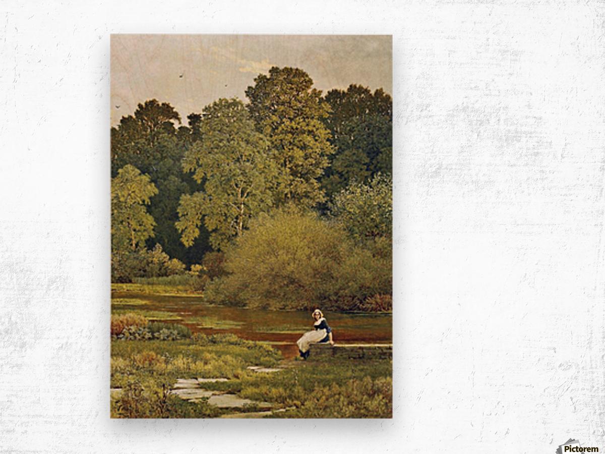 Riverside, Wallingford, Berkshire Wood print