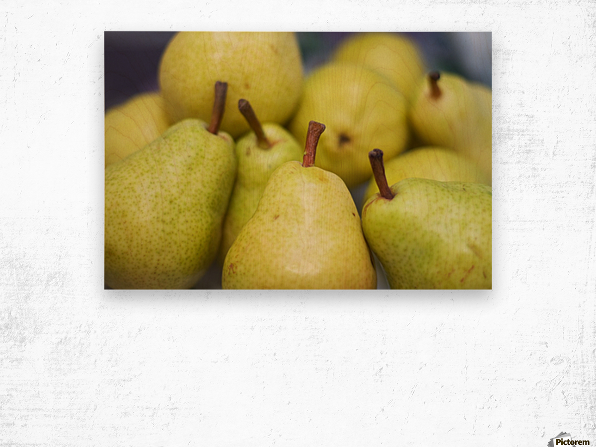 Autumn nature concept. Fall pears on wood - Levente Bodo Canvas