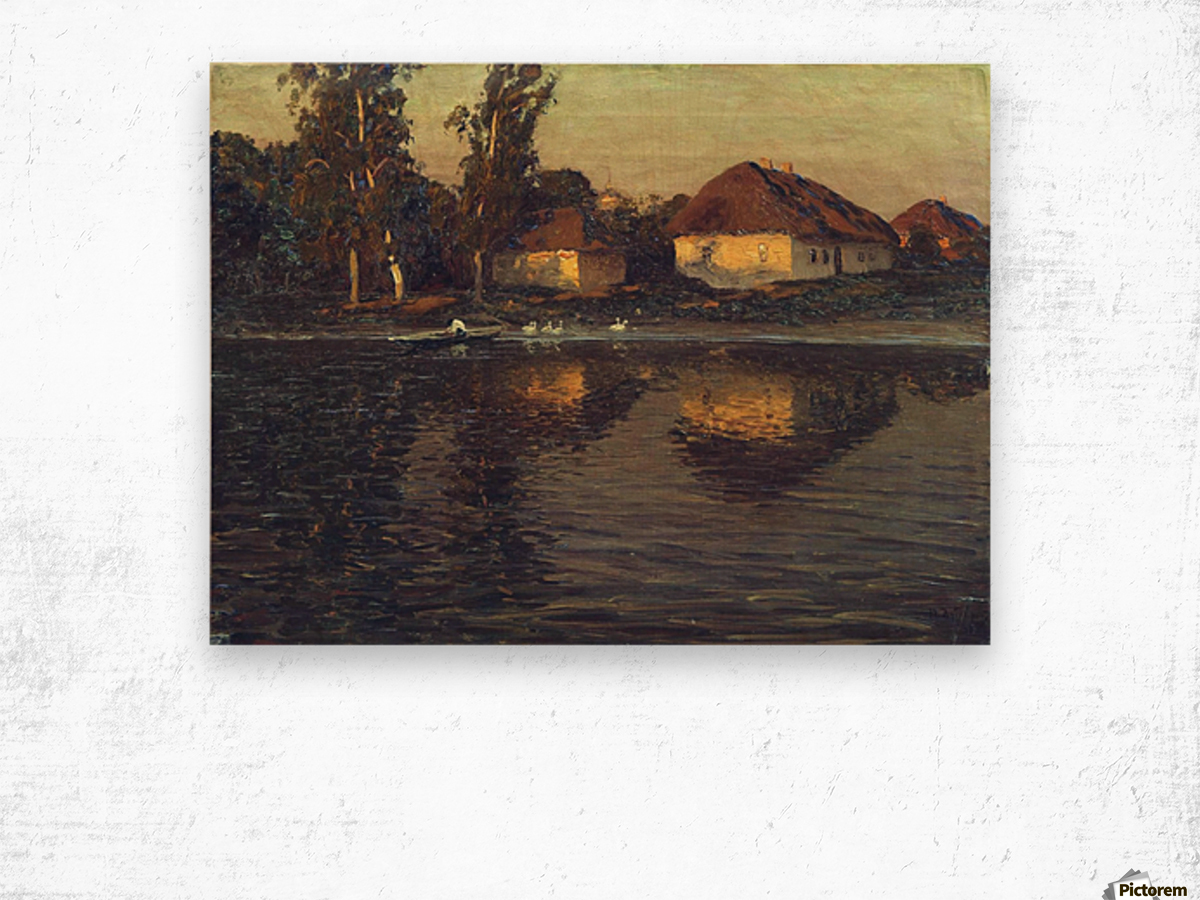 Evening in the Ukraine Wood print