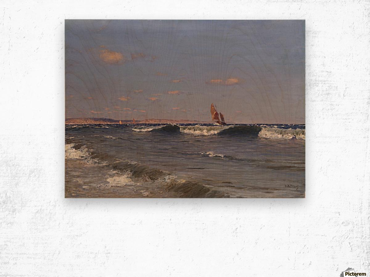 Sea Side Wood print