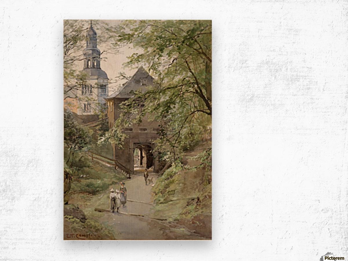 Mulln monastery in Salzburg Wood print