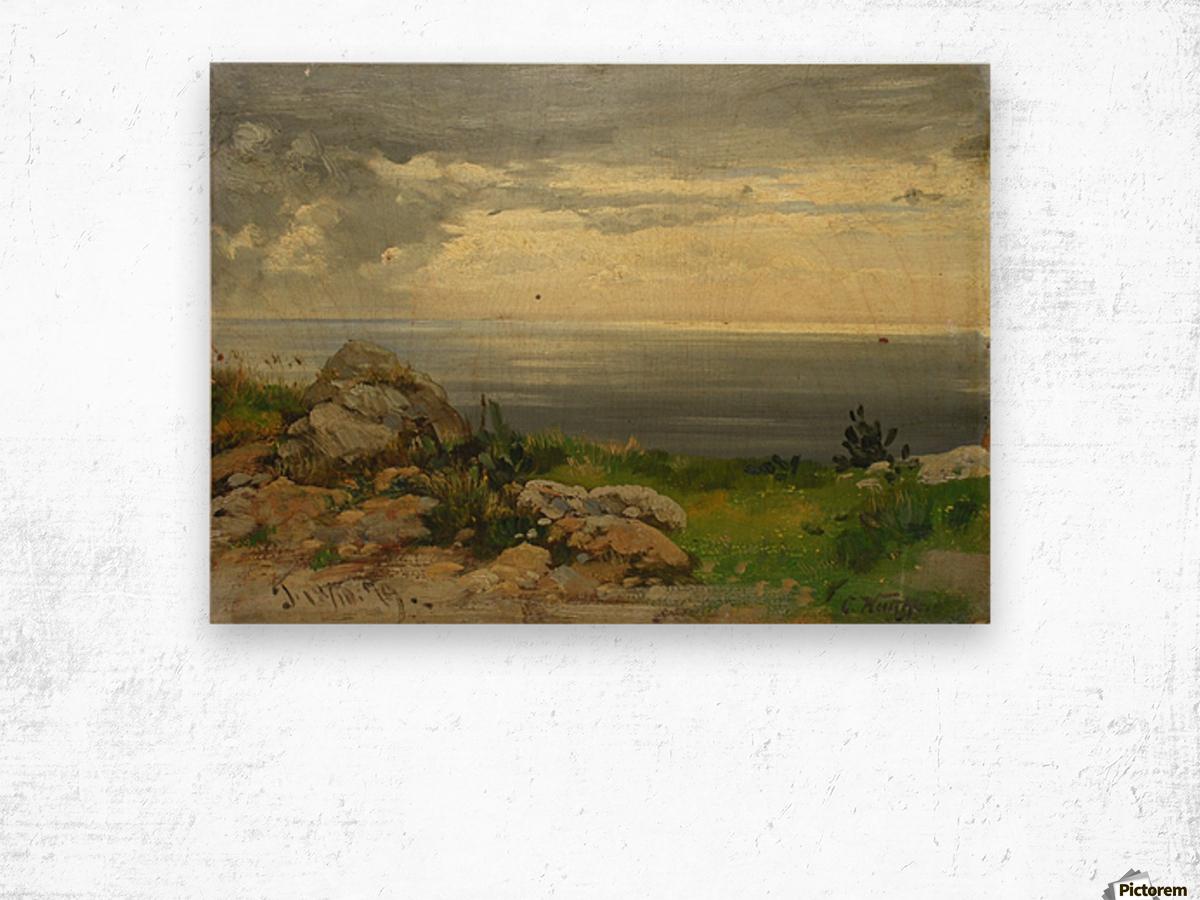 Landscape in Taormina, Sicily Wood print