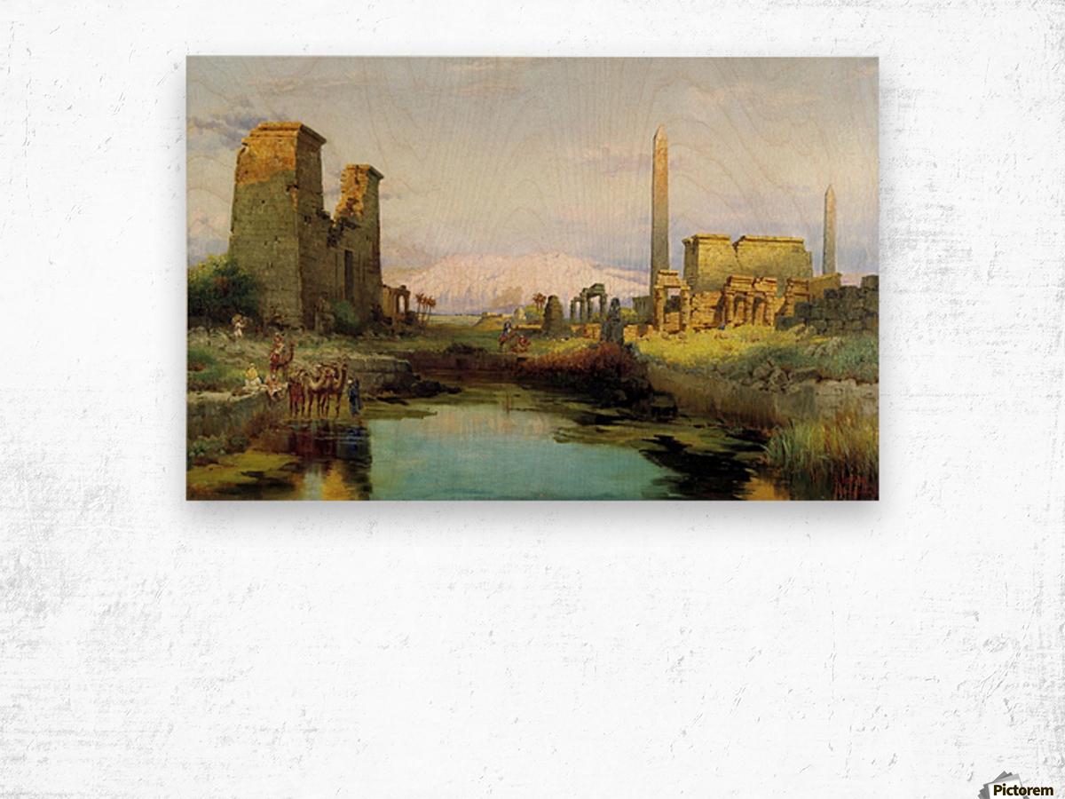 The Temple of Karnak 1911 Wood print