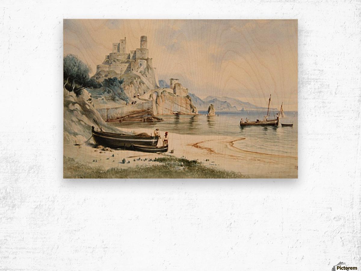 Sicilian Coastal Landscape Wood print