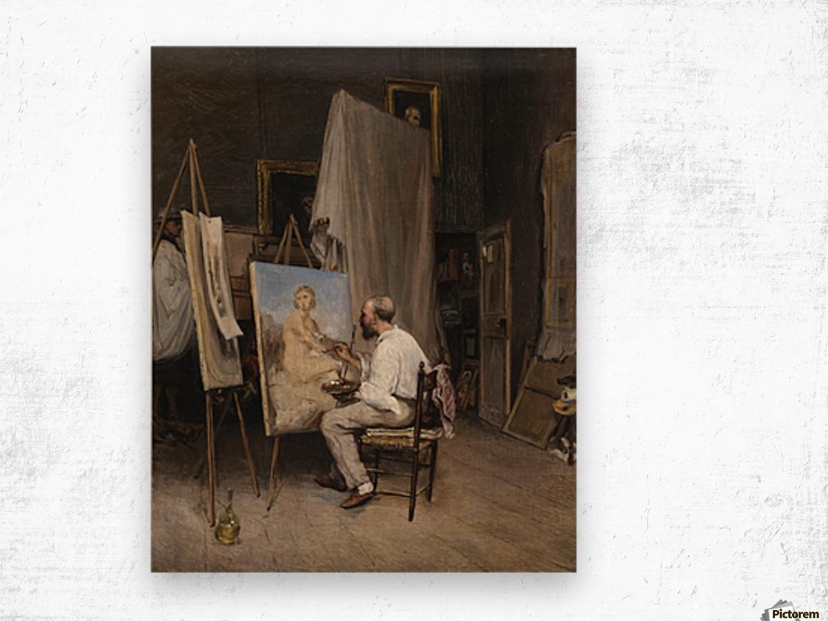 Le peintre dans son atelier Wood print