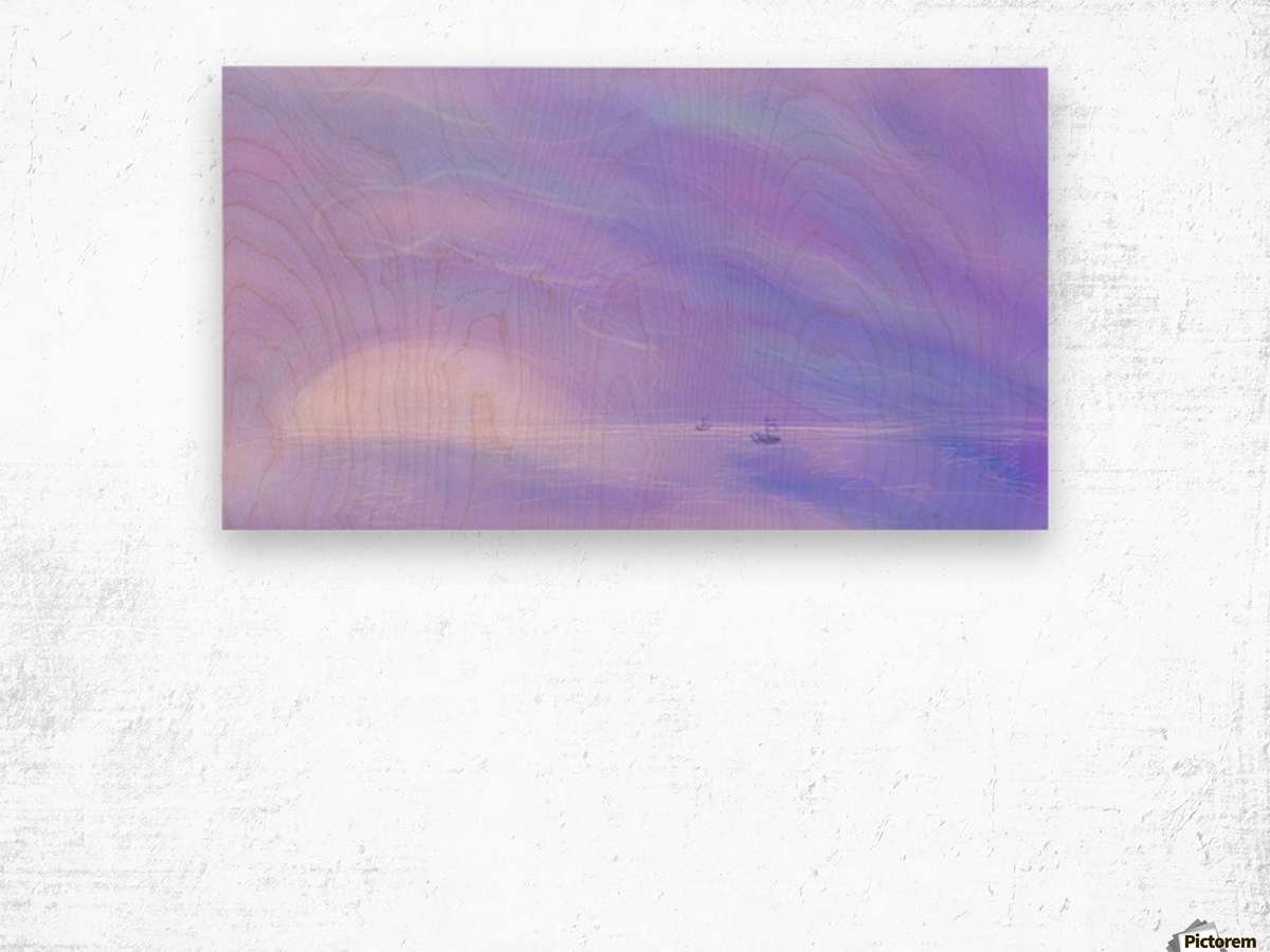 A Maui Twilight Setting Wood print