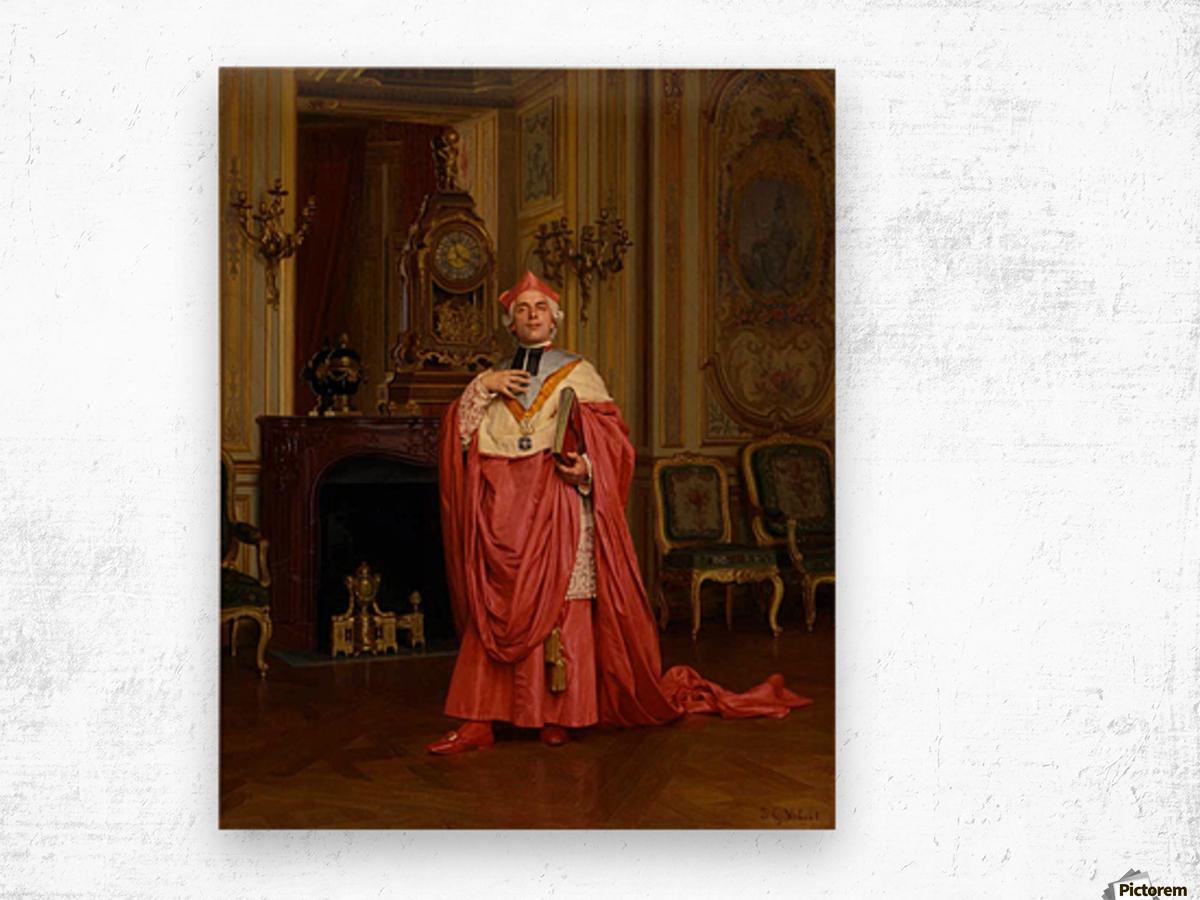 The red portfolio Wood print