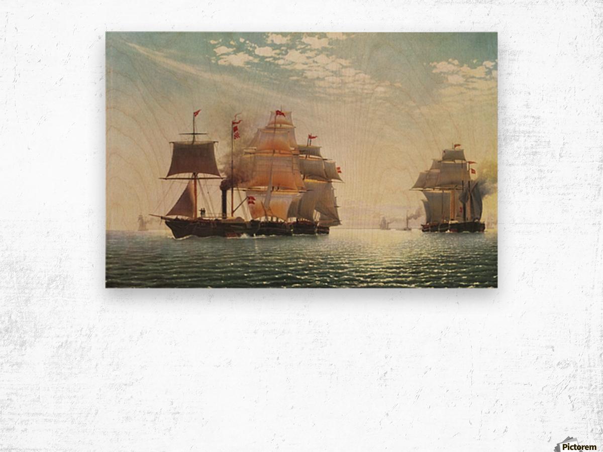 Transport fleet in Svendborg Wood print