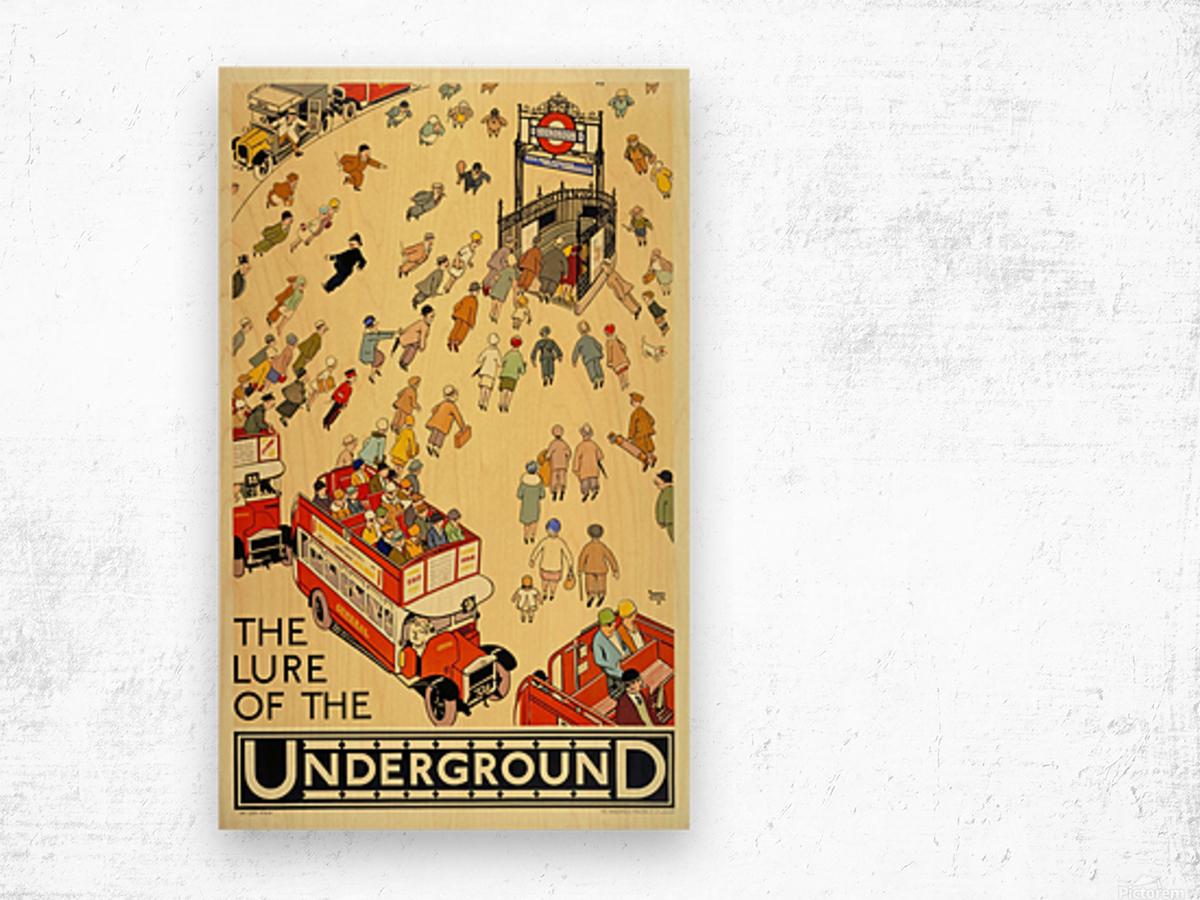 Vintage Travel Poster London Underground Wood print
