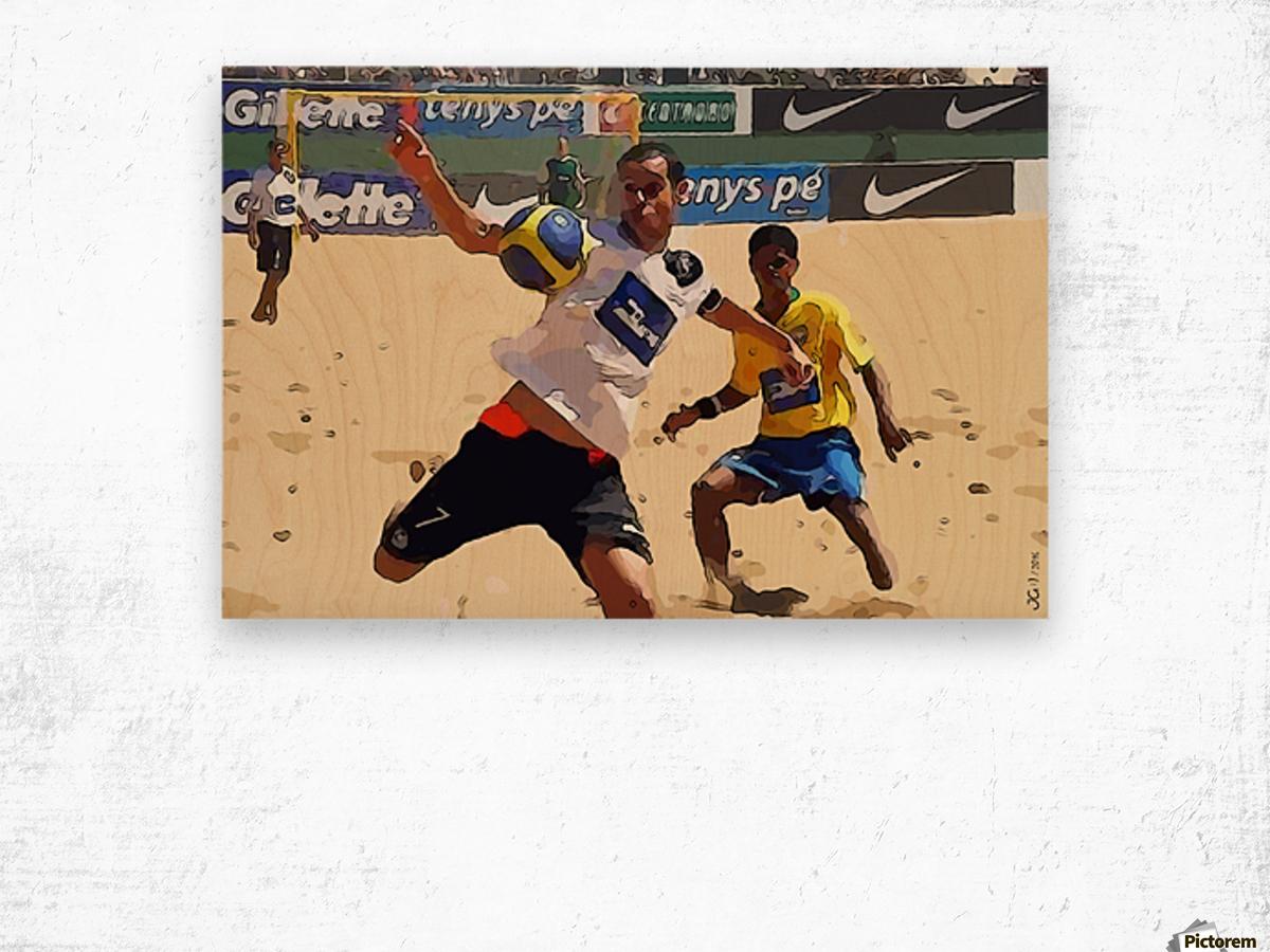 Beach football_05 Wood print