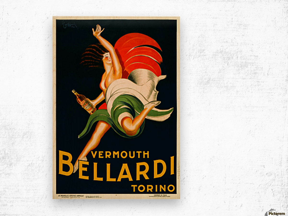 Vermouth Bellardi Torino Wood print