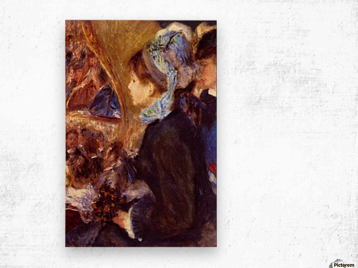 Le Cafe Concert by Renoir Wood print