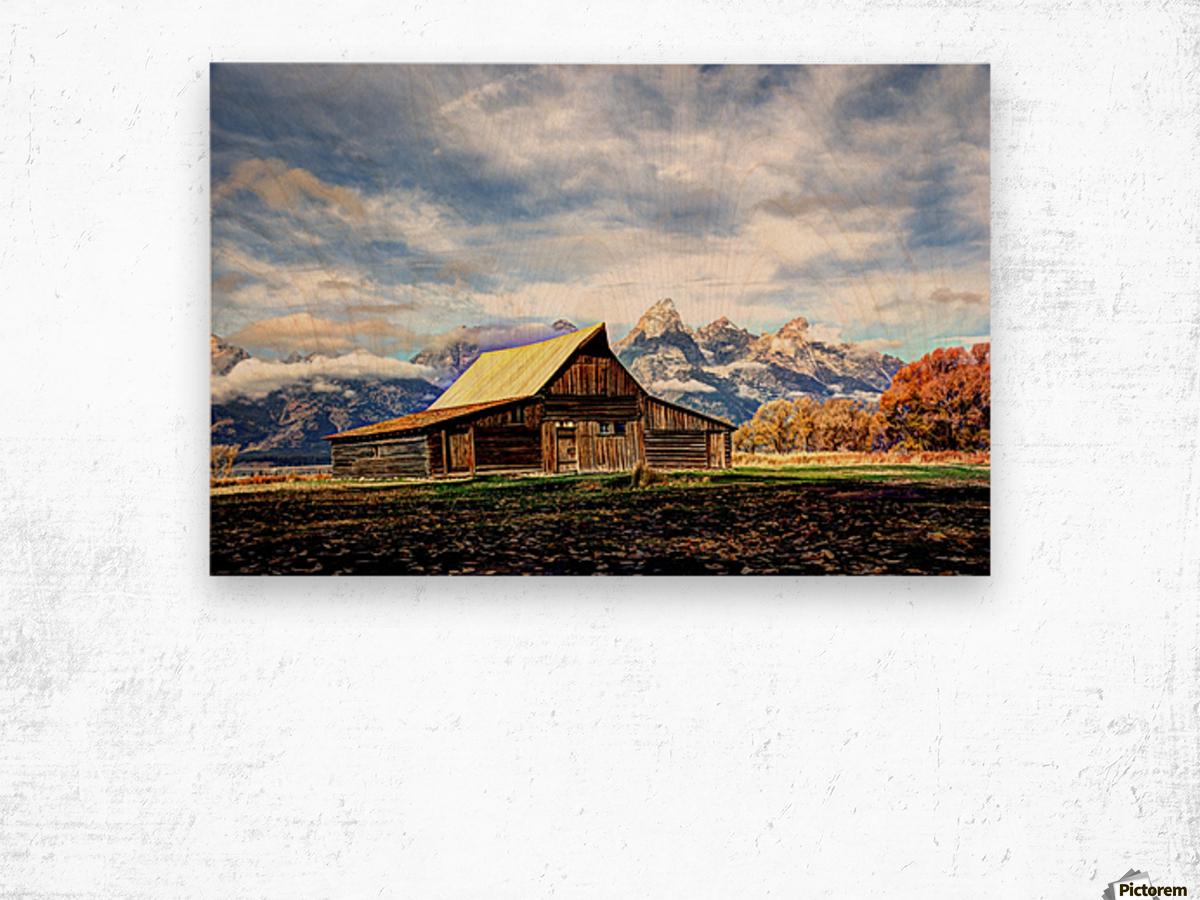 Mormon Row   Jackson Hole Wood print