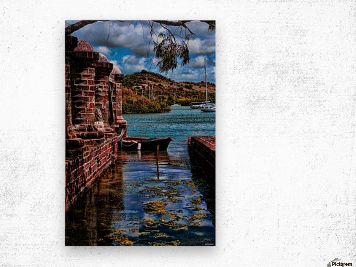 nelsons dockyard antigua Wood print