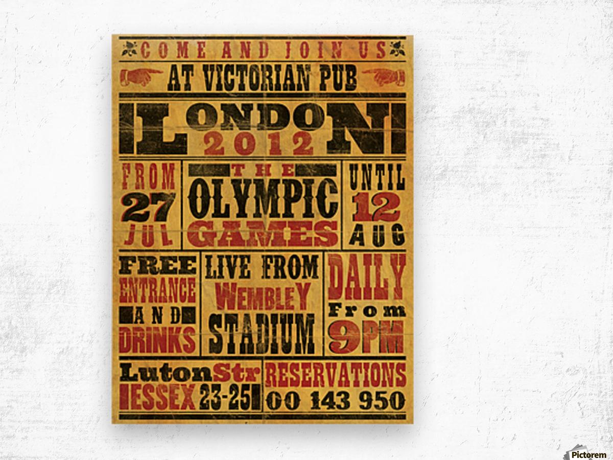 Vintage Olympics poster Wood print