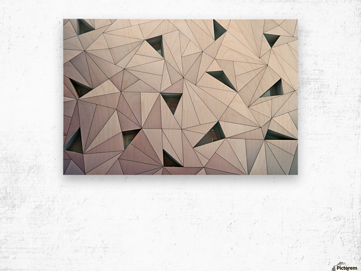 triangulation 1 Wood print