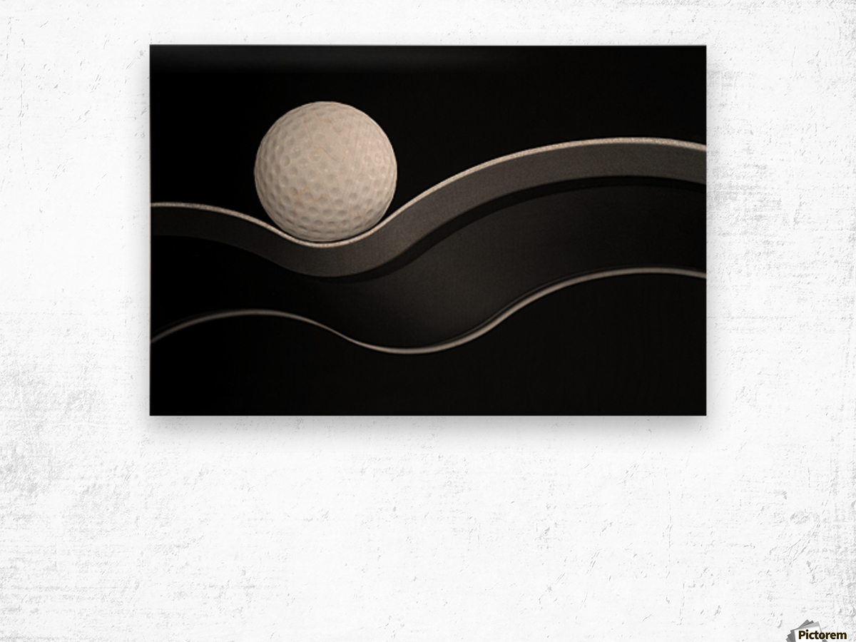 Craters and Curves Wood print