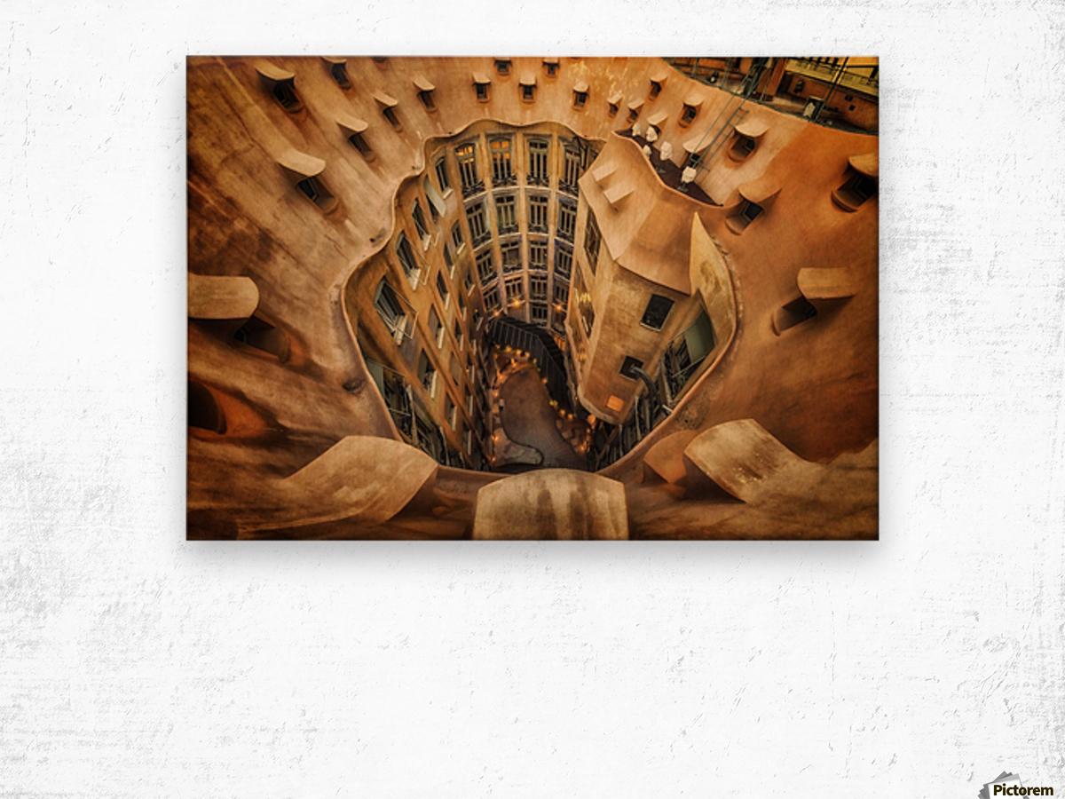 Casa MilA, La Pedrera, Barcelona. Wood print