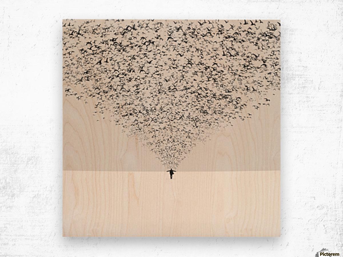 The Dark Half Wood print