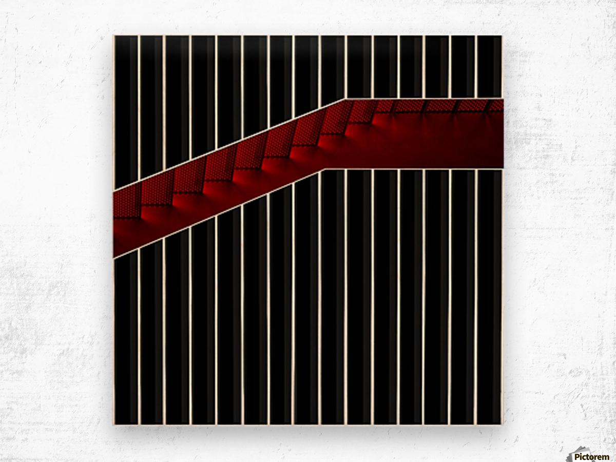 Staircase in gift box Wood print