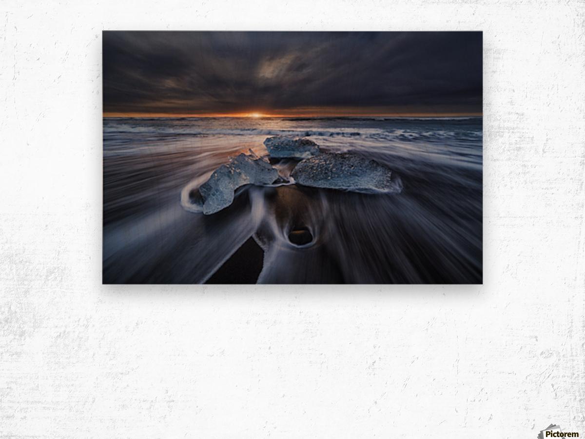 Wild Ice II Wood print
