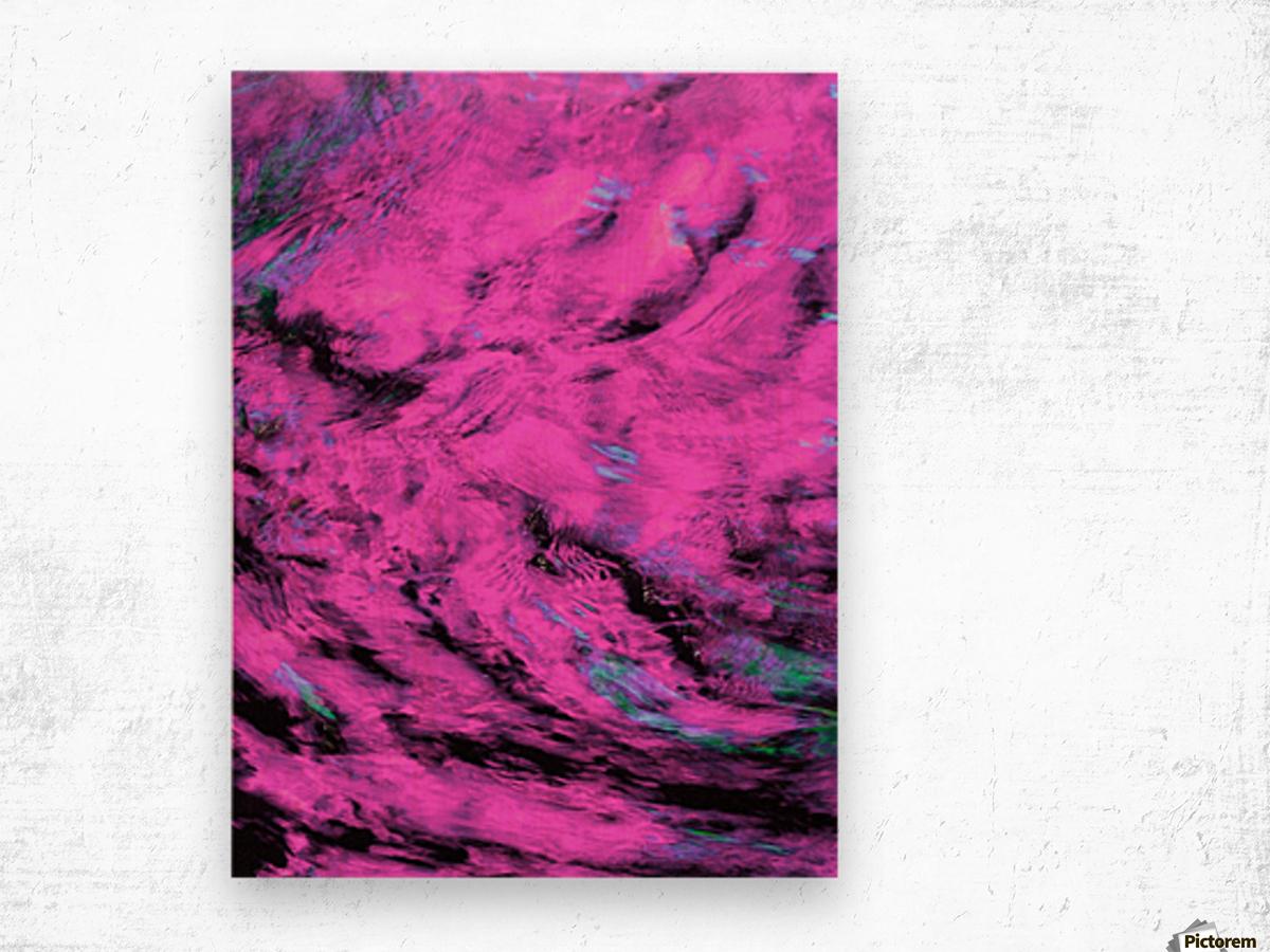 Pink Pyre Wood print