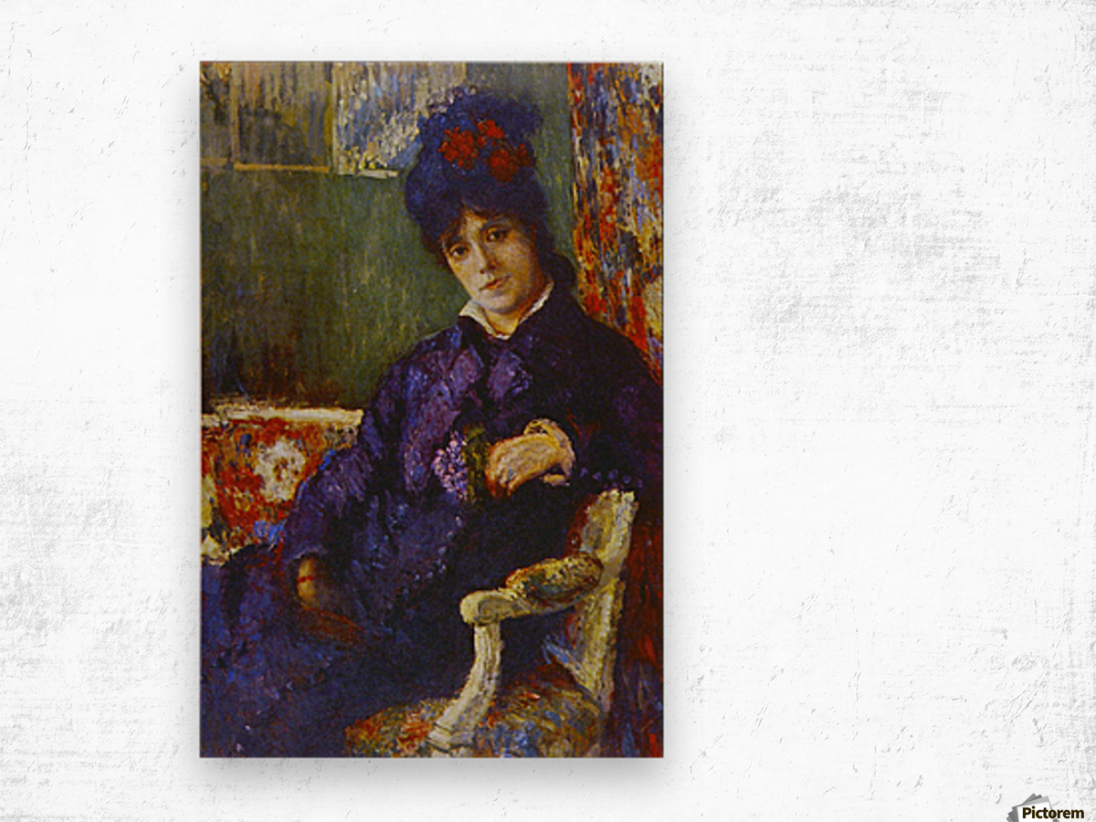 Seated Woman by Cassatt Wood print