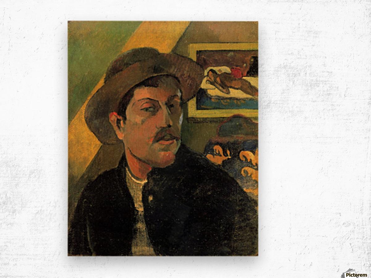 Self Portrait by Gauguin Wood print