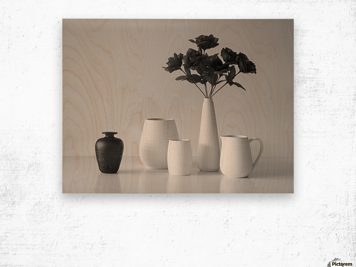 Still Life in Black and White Wood print