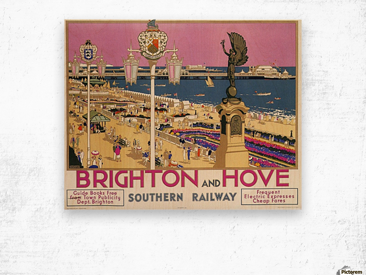 Wall art. Vintage Rail travel advert Reproduction poster New Brighton